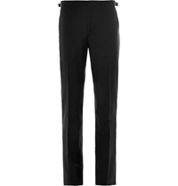 Hackett Satin Trimmed Wool And Mohair Blend Tuxedo Trousers Black