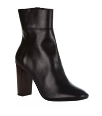 Claudie Pierlot Andes Leather Ankle Boots Female Black
