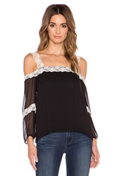 Amanda Uprichard Dakota Lace Top Black And White
