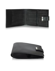 Pineider 1949 Black Leather Men's Chequebook Holder