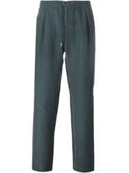 Brioni Drawstring Loose Trousers Green