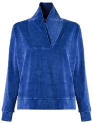 Lygia And Nanny Towel Effect Blouse Blue