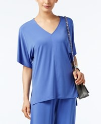 Alfani V Neck High Low Top Only At Macy's Alf Pery Blue