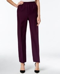 Alfred Dunner Pull On Ankle Pants Amethyst