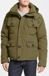 Canada Goose Men's 'Selkirk' Slim Fit Water Resistant Down Parka With Detachable Hood Military Green