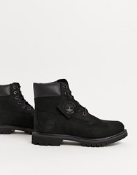 Timberland 6 Premium Wheat Leather Ankle Boots Black