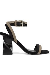 Opening Ceremony Elzpeth Suede Sandals Black