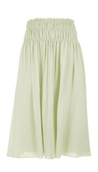Tibi Crinkle Silk Cotton Skirt