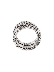 John Hardy Classic Chain Overlap Ring Silver
