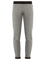 Moncler Straight Leg Wool Knit Trousers Grey