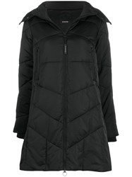 Pinko Quilted Parka Coat Black