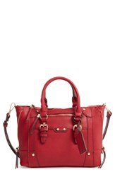 Sole Society Mini Susan Faux Leather Tote Red
