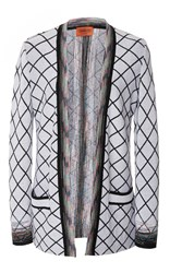 Missoni Check Long Sleeve Cardigan Black White
