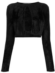 Antonino Valenti Cropped Long Sleeve Cardigan Black