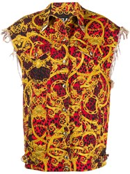 Versace Jeans Couture Leo Baroque Print Oversized Gilet 60