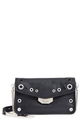 Rag And Bone Leather Field Clutch Blue Navy Grommet