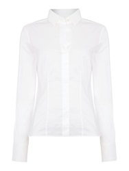 Hugo Boss Bashina6 Fitted Long Sleeve Shirt White
