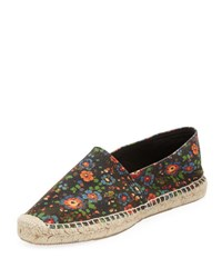 Isabel Marant Cana Floral Print Espadrille Flat Multi Multi Colored