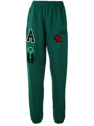 Aries Multi Patches Sweatpants Green