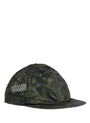 Satisfy Perforated Camouflage Baseball Cap Green