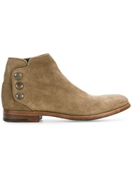 Alberto Fasciani Snap Fastening Ankle Boots Nude And Neutrals