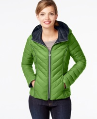 Nautica Reversible Packable Down Coat Green Apple Marine