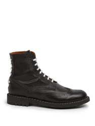 Givenchy Commando Perforated Lace Up Boots Black
