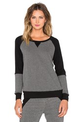 Beyond Yoga Honeycomb Blocked Pullover Gray