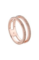 Monica Vinader Women's 'Skinny' Openwork Diamond Ring Champagne Diamond Rose Gold