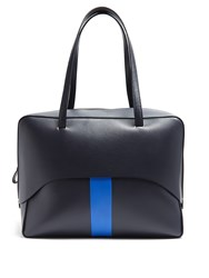 Tibi Papa Leather Tote Navy Multi