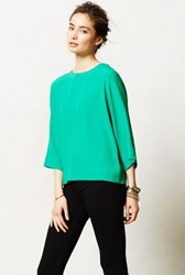 Anthropologie Leyden Top Green