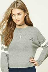 Forever 21 Not Interested Graphic Sweater Heather Grey