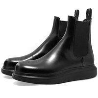 Alexander Mcqueen Wedge Sole Hybrid Chelsea Boot Black