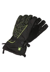 Spyder Overweb Gloves Black Bryte Yellow