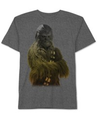 Jem Men's Big And Tall Star Wars Chewbacca Ombre Graphic Print T Shirt From Charcoal