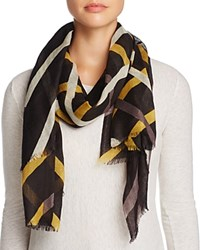 Aqua Diagonal Stripe Scarf 100 Exclusive Black Multi