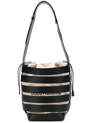 Paco Rabanne Cage Style Hobo Large Tote Black