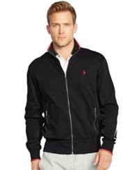 Polo Ralph Lauren Men's Full Zip Interlock Track Jacket Polo Black