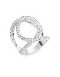 Michela Geo Pave Cocktail Ring Silver