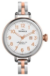 Women's Shinola 'The Birdy' Bracelet Watch 34Mm