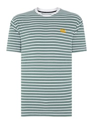 Canterbury Of New Zealand Yarn Dyed Stripe Tee White