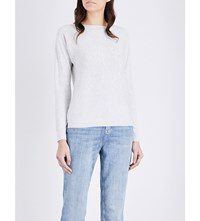 The White Company Boat Neck Knitted Jumper Cloud Marl