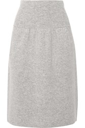 Joseph Boiled Wool Skirt Light Gray