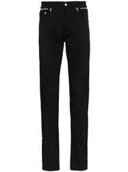 Alexander Mcqueen Zip Detail Sim Fit Jeans Black
