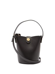Sophie Hulme Nano Swing Leather Bucket Bag Black