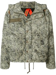 Mr And Mrs Italy Camouflage Print Padded Jacket 60