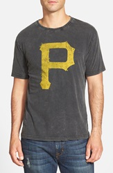 Red Jacket 'Pittsburgh Pirates Scatter' Burnout T Shirt Black