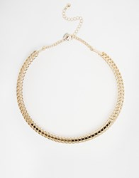 Coast Open Wire Necklace Gold