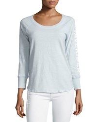 James Perse California Long Sleeve Raglan Top Lucite V