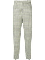 Wooyoungmi Plaid Cuffed Trousers Multicolour